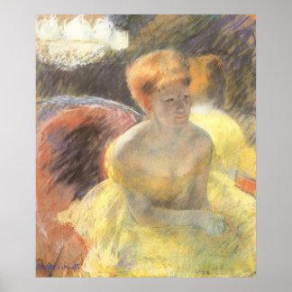 Pôster Retrato de Lydia na ópera por Mary Cassatt