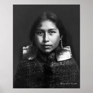 Poster Retrato de uma menina de Tsawatenok - 1914