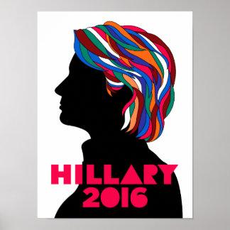 Poster retro da campanha de Hillary Clinton 2016