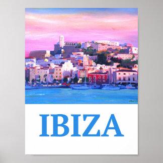 Poster retro da espanha de Ibiza Eivissia