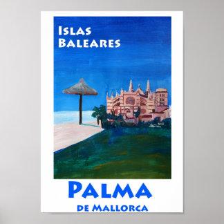 Poster retro da espanha de Palma de Maiorca
