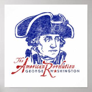 Poster retro da Revolução Americana de George