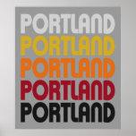 Poster retro de Portland