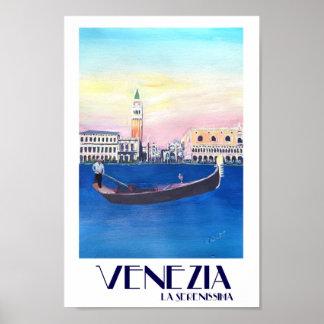 Poster retro de Serenissima do La de Venezia