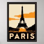 poster retro do art deco de Paris