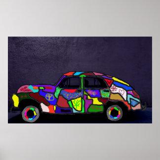 Poster retro do carro vintage