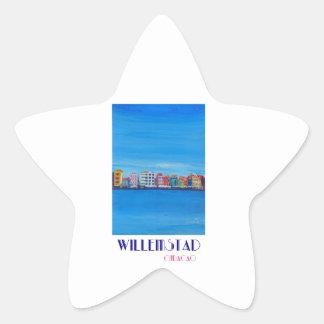 Poster retro Willemstad Curaçau Adesivo Estrela