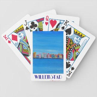 Poster retro Willemstad Curaçau Baralho Para Pôquer