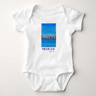 Poster retro Willemstad Curaçau Body Para Bebê