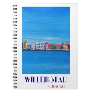 Poster retro Willemstad Curaçau Caderno Espiral