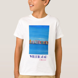 Poster retro Willemstad Curaçau Camiseta