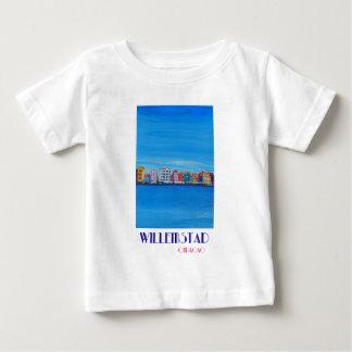 Poster retro Willemstad Curaçau Camiseta Para Bebê