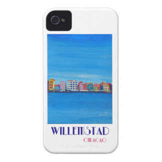 Poster retro Willemstad Curaçau Capinha iPhone 4