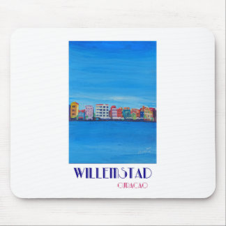 Poster retro Willemstad Curaçau Mouse Pad