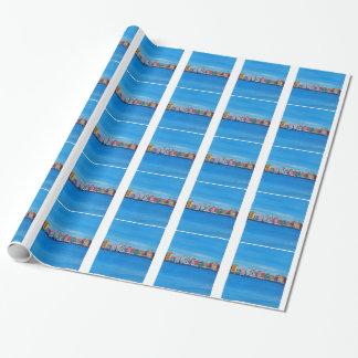 Poster retro Willemstad Curaçau Papel De Presente