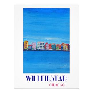 Poster retro Willemstad Curaçau Papel Timbrado
