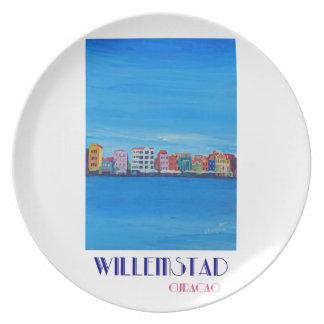Poster retro Willemstad Curaçau Prato