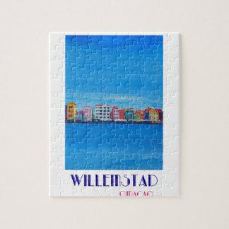 Poster retro Willemstad Curaçau Quebra-cabeça