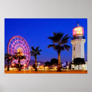 Poster Roda de Ferris e farol