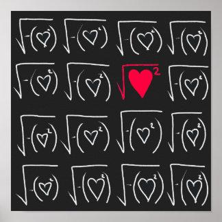 Poster Romance do geek da matemática: encontre o amor