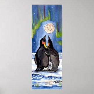 Poster romântico da lua da Aurora do pintinho da
