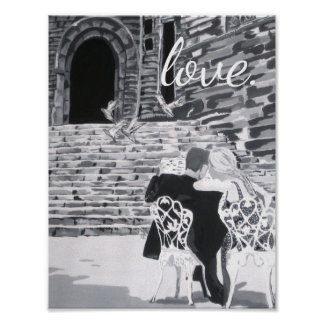 "Poster romântico do ""amor"" pôster"