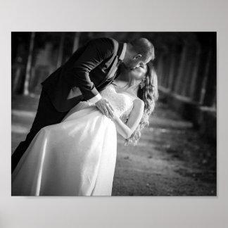 Poster romântico do dia do casamento