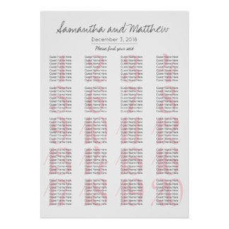 Poster Românticos simples coram casamento - mais mesas