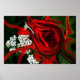 Pôster Rosa vermelha
