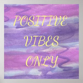Poster roxo positivo da aguarela das impressões
