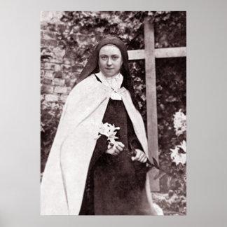 Poster Rua Therese de Lisieux, a flor pequena