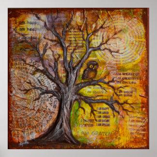 """Poster """"sabedoria do pensamento do positivo """""""