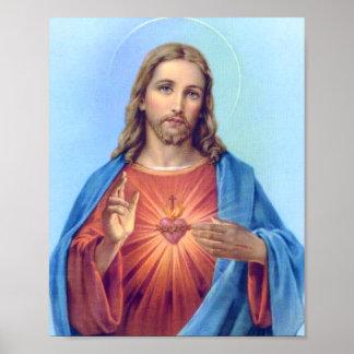 Poster sagrado do coração pôster