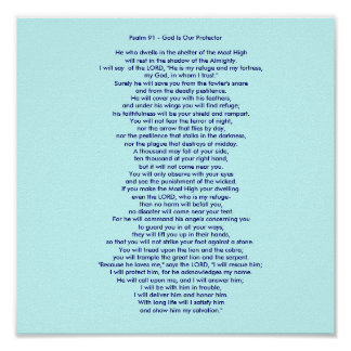 Pôster Salmo 91 - O deus é nosso protetor