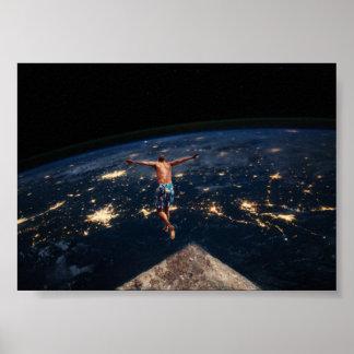 Poster Salto do universo