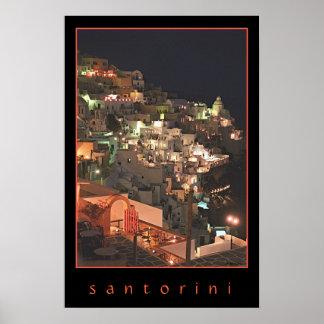 Poster Santorini em a noite