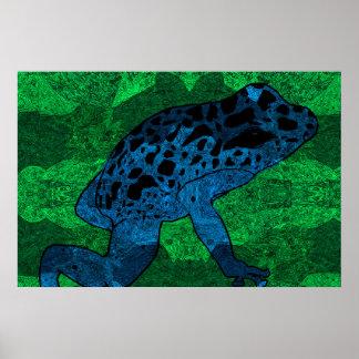 Pôster Sapo azul