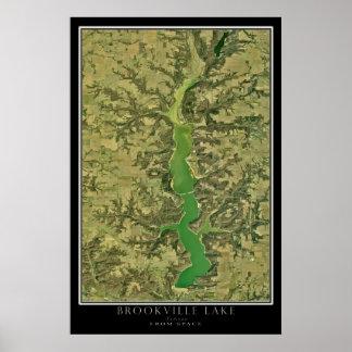 Poster satélite da imagem de Indiana do lago