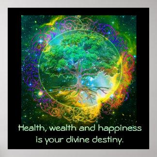 Pôster Saúde, riqueza & felicidade