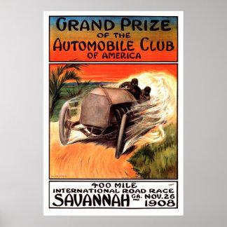 Pôster Savana internacional GA 1908 da competição