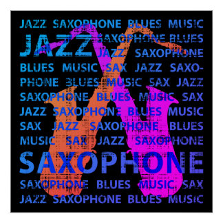 Poster Saxofone do jazz