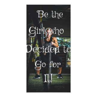 Pôster Seja a menina… Poster inspirador da parede