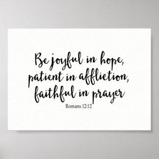 Pôster Seja alegre na esperança, paciente na aflição,