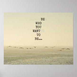 Poster Seja quem você quer ser