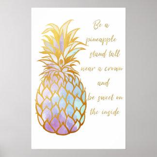 Poster Seja um abacaxi
