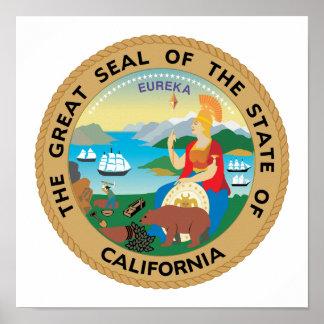 Pôster Selo do estado de Califórnia