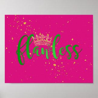 Poster sem falhas do rosa e do verde