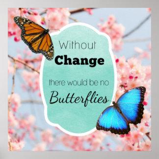 Poster Sem mudança nenhumas flores de cerejeira das