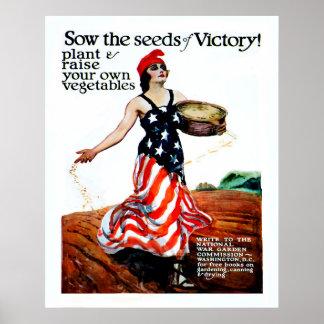 Poster Semeie as sementes da vitória (restaurada)