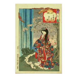 Pôster Senhora clássica japonesa da gueixa - arte de